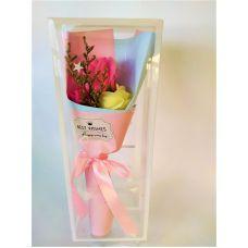 Мыло букет роз цвет розовый