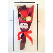 Мыло букет роз цвет красный