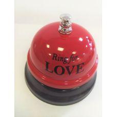 Звонок настольный RING FOR LOVE бордовый