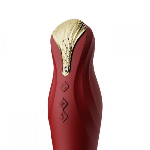 Смарт вибратор с фрикциями (пульсатор) ZALO KING красный