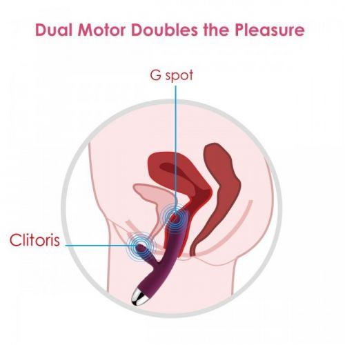 Двойной вибратор для клитора и точки G Trysta фиолетовый SVAKOM