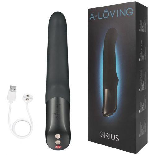 Вибратор-пульсатор вагинальный A-Loving Sirius черный