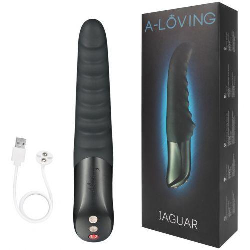 Вибратор-пульсатор вагинальный из силикона A-Loving Jaguar черный