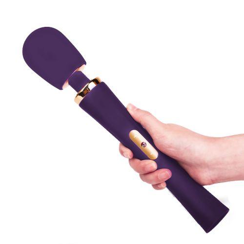 Вибратор массажер POWER WAND с сенсорным управлением фиолетовый Nomi Tang