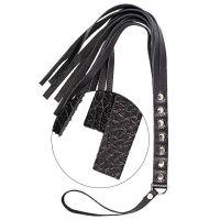 Флоггер плеть с гладкими хвостиками sLash S&M Fancy Leather Floger черная