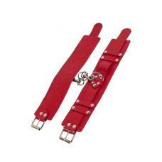 Красные оковы Leather Dominant Leg Cuffs