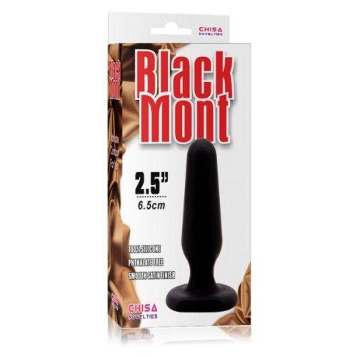 Анальная силиконовая пробка Black Mont 'S' 291327