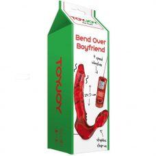 Безремневой вибро страпон Toy Joy Bend Over Boyfriend красный