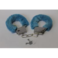 Плюшевые голубые наручники 329101