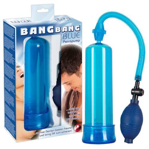 Вакуумная помпа для увеличения пениса Bang Bang blue 519952
