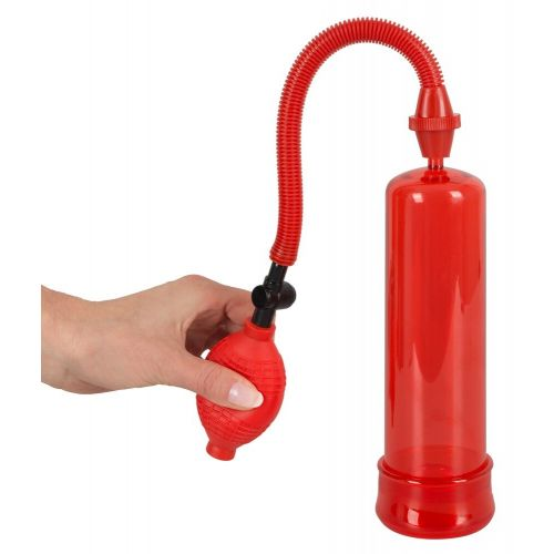Вакуумная помпа пластиковая для увеличения пениса Bang Bang red 519960