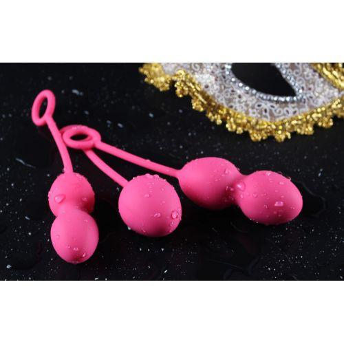 Вагинальные шарики розовые Nova Ball Вес 49 75 95 гр SVAKOM