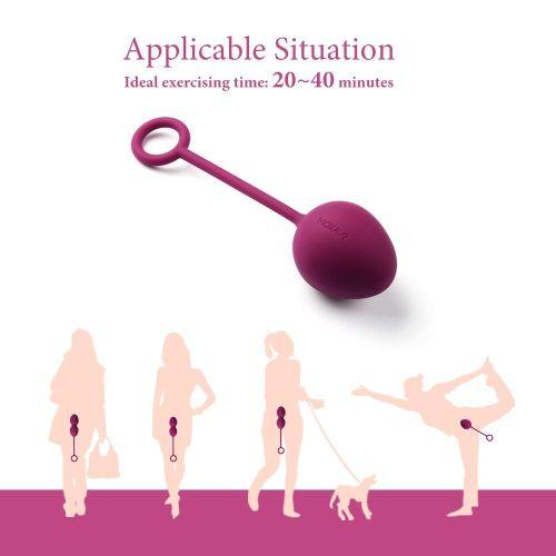 Вагинальные шарики фиолетового цвета Nova Ball Вес: 49, 75, 95 гр