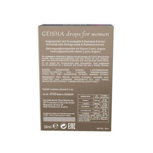Возбуждающие капли для женщин SHIATSU Geisha 30 ml