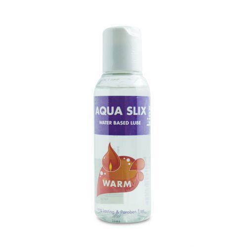 Лубрикант на водной основе Aqua Slix с согревающим эффектом
