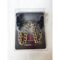 Прищепкинасоскичерные с золотичтой цепочкой NippleplayGold