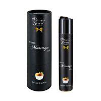 Массажное масло для с афродизиаком с ароматом Крем Брюле Plaisir Secrets 59 мл
