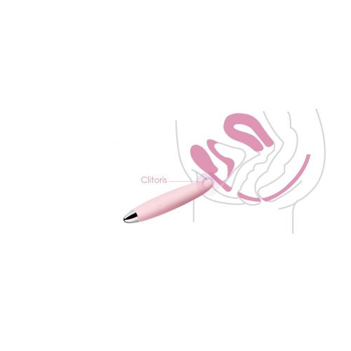 Мини вибратор-вибропуля для клитора розовый Daisy SVAKOM