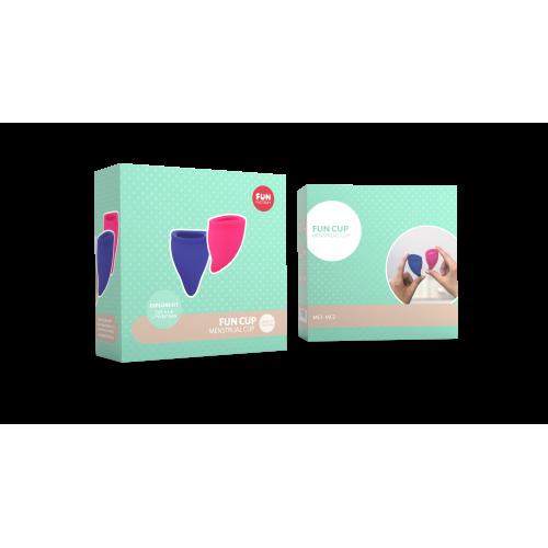 Набор менструальных чаш Fun Cup размер А и B