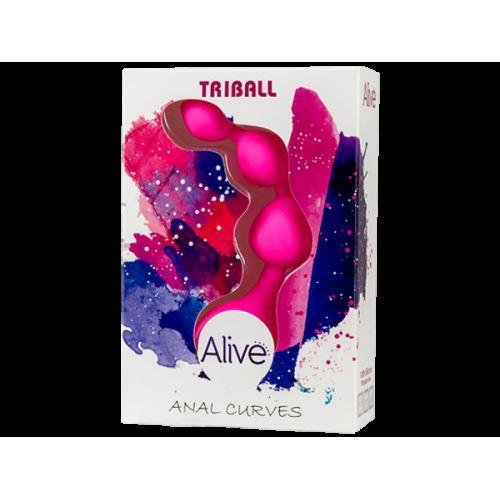 Анальные шарики Adrien Lastic Triball Pink