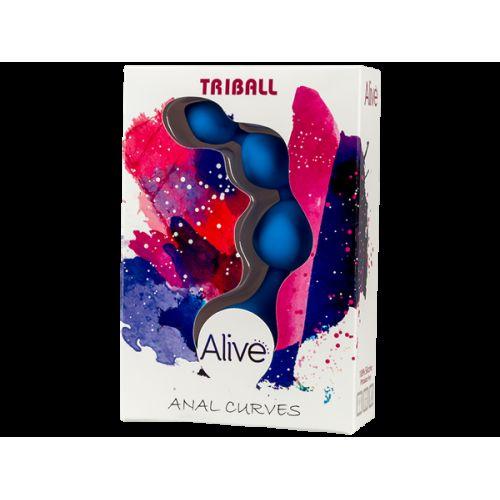 Анальные шарики Adrien Lastic Triball Blue