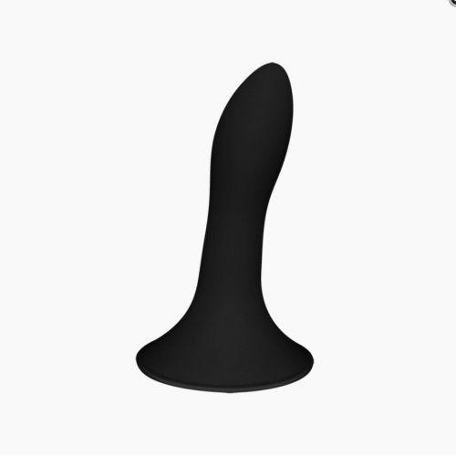 Дилдо с присоской черный Adrien Lastic Hitsens 5 диаметр 2,4см длина 13см