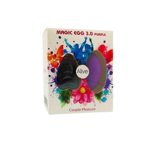 Виброяйцо с пультом ДУ фиолетовый Alive Magic Egg 3.0