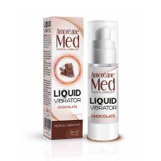 Смазка вибрирующая (Жидкий вибратор) аромат Шоколад LOVE MED 30 мл