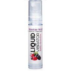 Стимулирующий лубрикант жидкий вибратор Amoreane Med: Liquid vibrator - Berries 10 ml