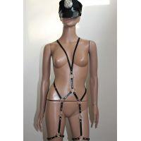 Женская сбруя для БДСМ из натуральной кожи Scappa B-11
