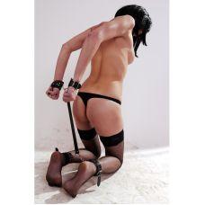 Кожаные наручники и оковы для ног с соединителем их кожи Scappa B-4