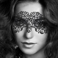 Виниловая маска на глаза с креплением в виде наклеек для БДСМ Bijoux Indiscrets черный