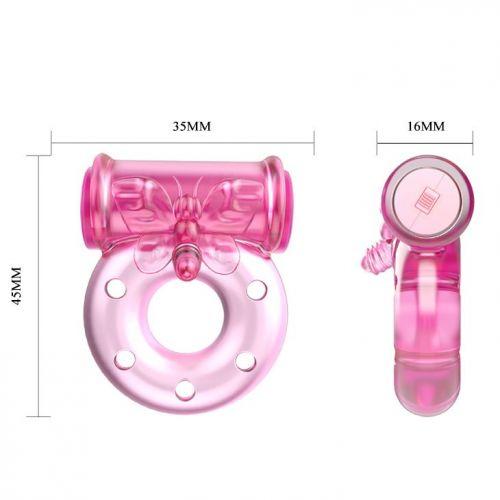 Кольцо с вибрацией и презервативом Vibrator & condom BI-010081