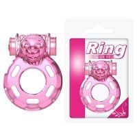 Эрекционное вибро-кольцо на член для продления секса розовое