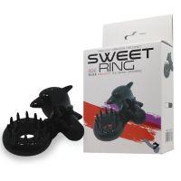 Кольцо вибро эрекционное со стимуляцией клитора  SWEET RING