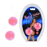 Вагинальные массажные шарики с шипами BI-014036-0101S