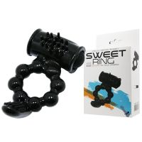 Эрекционное кольцо для продоения эрекции члена с вибрацией Sweet Ring