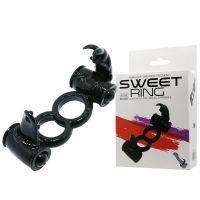 Эрекционное вибро кольцо с стимулятором клитора Sweet RING LYBAILE