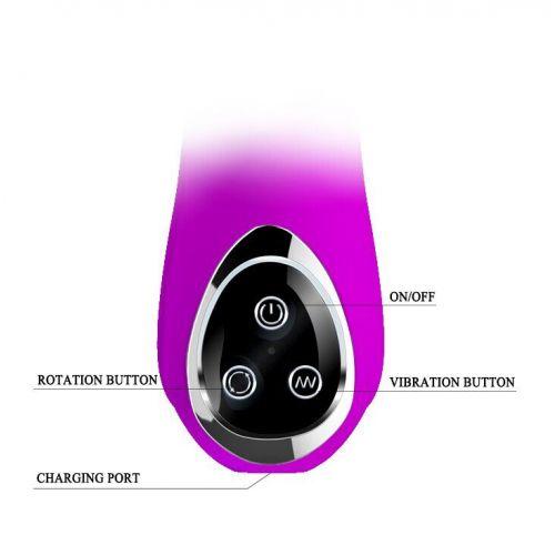 Перезаряжаемый ХАЙ-ТЕК вибратор со стимуляцией клитора PRETTY LOVE BUTTERFLY BI-014123-1