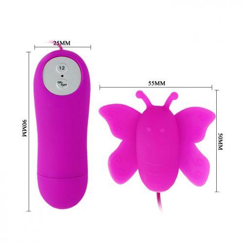 Вибратор-бабочка для клитора MINI LOVE EGGS BI-014143