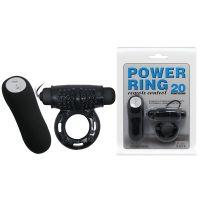 Вибро кольцо на пенис Power ring 20 BI-014331