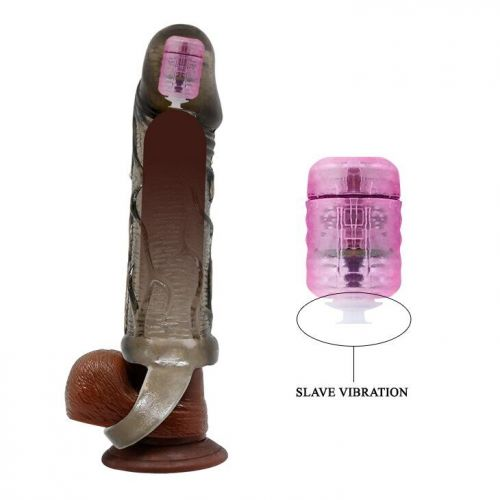 Насадка на пенис-презерватив с вибрацией Men extension BI-026210A-1