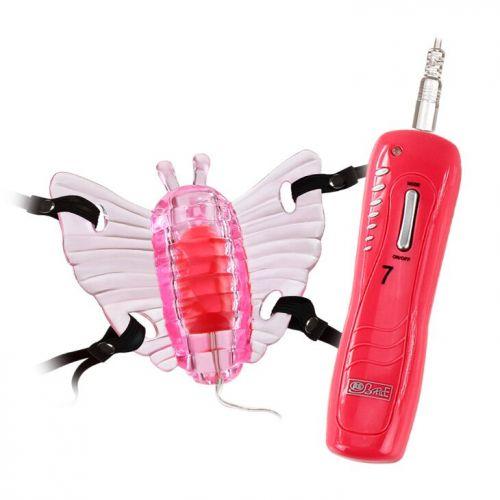 Вибро-стимулятор бабочка с вагинальным отростком Butterfly Mini