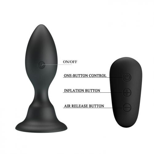 Анальный стимулятор с вибрацией черный MR PLAY VIBRATING ANAL PLUG