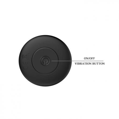 Анальная пробка стимулятор с вибрацией чёрная MR PLAY
