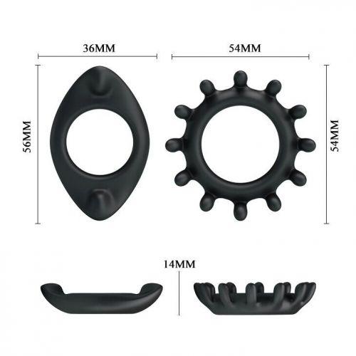 Набор эрекционных силиконовых колец для члена RING BI-210161