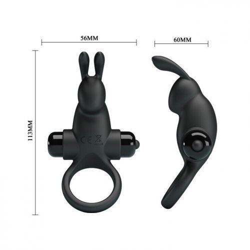 Кольцо эрекционное с вибро-стимулятором клитора Pretty Love Vibrant penis ring I BI-210204