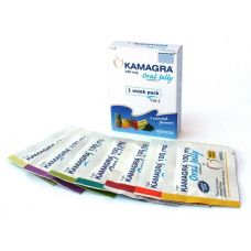 Возбуждающий съедобный гель для мужчин Kamagra oral jelly (7 пакетиков в уп)