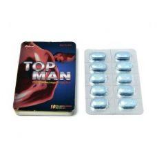 Таблетки для повышения потенции и продления полового акта TOP MAN бешенный ОРГАЗМ