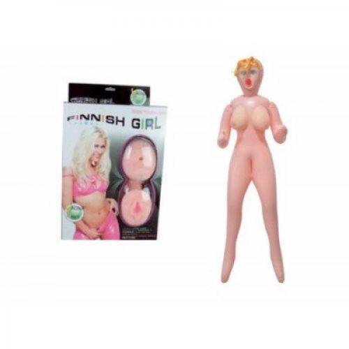 Надувная кукла для секса блондинка с вставной вагиной с вибрацией LYBAILE Finish Girl